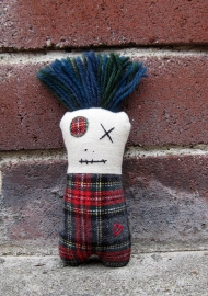 Monster Mini Red Plaid Blue Green Hair BRICKS ps copy
