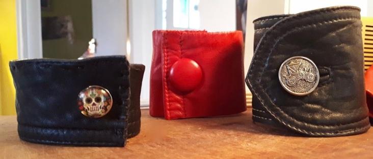Upcycled Leather Jacket bracelets